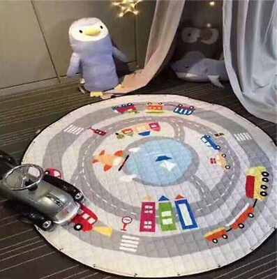 Portable Soft Cotton Round baby Gym Activity Playmat Crawling Blanket Play Mat