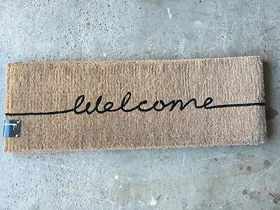 High Quality Doormat - Welcome Long Door Mat-100% Coconut Fibre-120X40X4Cm