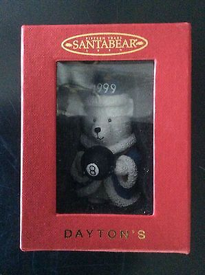 *new*1999 Dayton Hudson Santa Bear Ornament ,Fifteen Years Wizard/8 Ball
