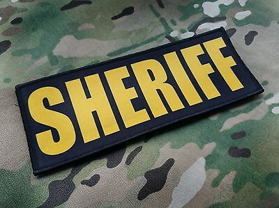 """Narcotics 3x8/"""" Hook Backed Plate Carrier Raid Patch Police SWAT Sheriff Black"""
