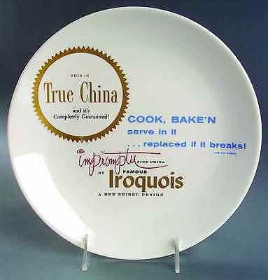 Iroquois ADVERTISING SIGNS Ben Seibel Dinner Plate 7303322