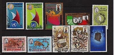 Bahrain - 10 used stamps, cat. $ 62.95