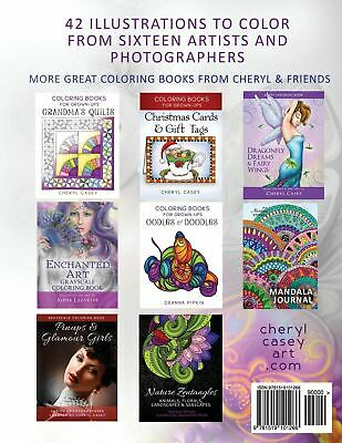 Mermaids, Fairies & Fantasy: Grayscale Coloring Book for Grownups, Adults