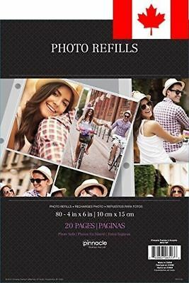 """4UP MAGNETIC 4""""x6"""" PHOTO ALBUM REFILL SHEETS, 10PK"""