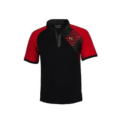Fz Forza Gilbert Unisex Polo Shirt Tee Black/red