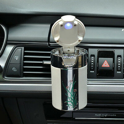 LED Auto Car Truck Cigarette Smoke Ashtray Ash Cylinder Holder for Home Seraphic