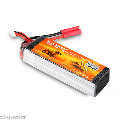 4S1P 14.8V 4000mAh 25C LiPo Battery HXT4mm for RC Car Truck Helicopter Airplane