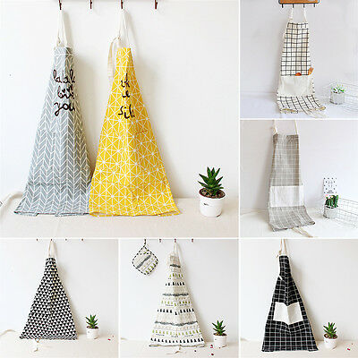 Adult Cotton Apron Kitchen Restaurant Cooking Bar Cafe Shop Work Bib Strap Apron