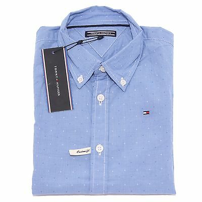 0771T camicia bimbo TOMMY HILFIGER custom fit microfantasia shirt kid