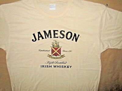 Jameson Irish Whiskey T Shirt Scotch 60/40 cotton poly