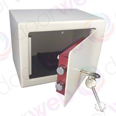 STEEL SAFE HOME LOCK BOX Security Key Lock Money Cash Hotel Jewellery Office