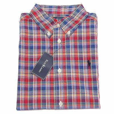0765T camicia bimbo RALPH LAUREN quadri multicolor shirt long sleeve kid