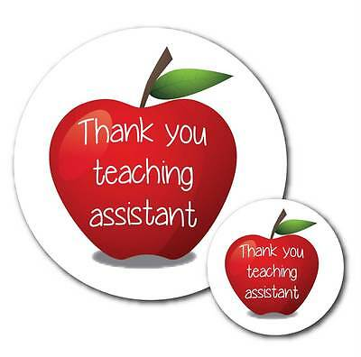'Thank you Teaching Assistant' 30mm or 60mm stickers - Apple design - teachers
