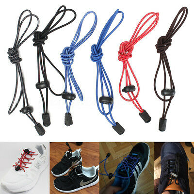 Elastic Lock No-Tie Laces Lazy Shoelaces Strings For Sneaker Hiking Shoes Boot