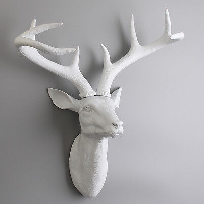 Modern Antlers Ornament Deer Resin Head Home Office Wall Mount Decoration Gifts