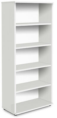 NOVA Aspire Tall 2000mm Bookcase, WHITE