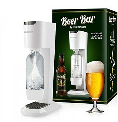 SodaStream Genesis WHITE Sparkling Water Maker SET BEER BAR for beer and syrup