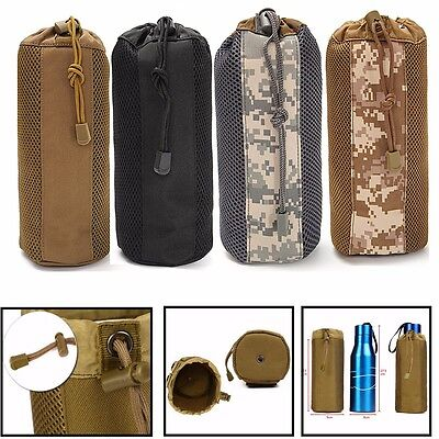 MOLLE Tactical Military Water Bottle Thermos Kettle Bag Pouch Outdoor Camping