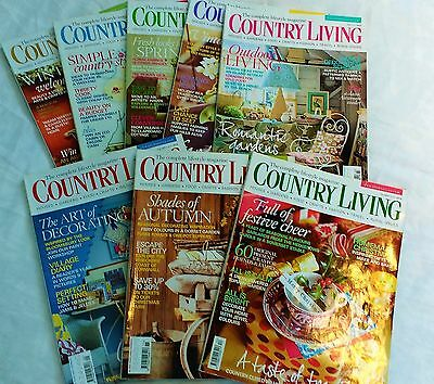 Country Living Magazines 2010 -  8 Copies - £1.00 each