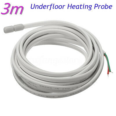 3 meter Underfloor Heating Floor Sensor Screed Cable / Probe Temperature Warming