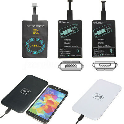 Mirco USB / Type C Qi Wireless Charging Receiver Module +QI Wireless Charger Pad