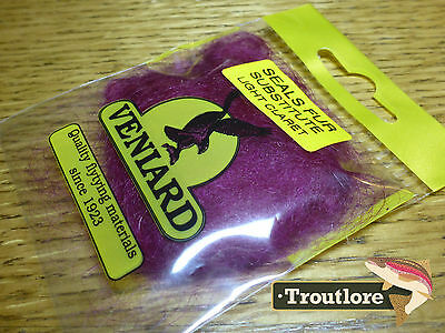 Light Claret Veniard Seals Fur Substitute Dubbing - New Fly Tying Dub Material