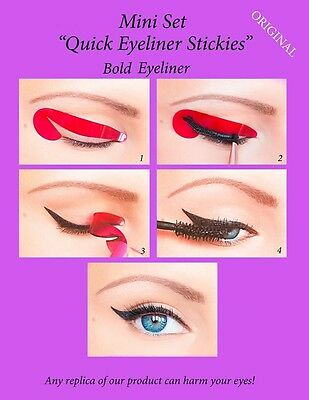 Quick Eyeliner Stickies Stencils Eye Makeup Tool STARTER SET 12 pcs ORIGINAL ES1