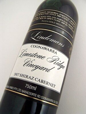 1987 LINDEMANS LIMESTONE RIDGE Shiraz Cabernet BB Isle of Wine