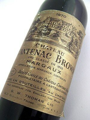 1970 CHATEAU CANTENAC-BROWN Margaux 3me Cru Classe Red Bordeaux Isle of Wine