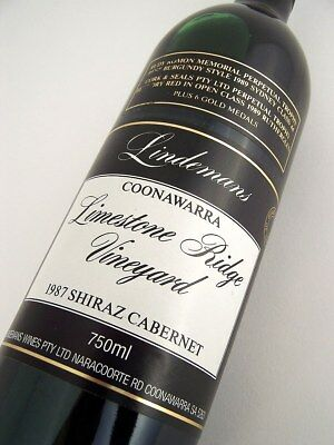1987 LINDEMANS LIMESTONE RIDGE Shiraz Cabernet FF Isle of Wine