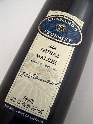 2004 LENNARDS CROSSING Shiraz Malbec Isle of Wine