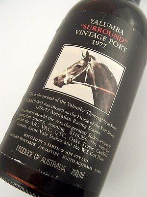 1977 YALUMBA SURROUND Vintage Port B FREE SHIP Isleofwine