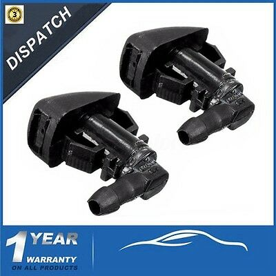 2x FRONT WINDSCREEN WATER NOZZLE MIST WASHER JETS SPRAY FOR FORD FOCUS 2008-2011