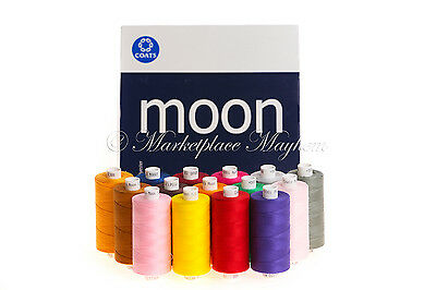 MOON/COATS - SEWING/MACHINE THREAD- 120s -SPUN POLYESTER -1000YD SPOOL/REEL/COP