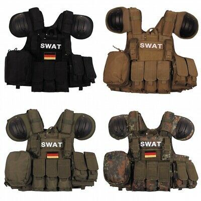 Weste Combat Einsatzweste Swat Tacticalweste SEK Polizei Security Paintball NEU