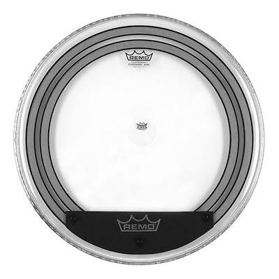 "doppelschichtiges Bass Drum Fell von Remo 20""  Powersonic Clear integ. Muffles"