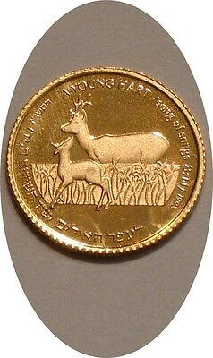 1993 GOLD New Sheqel of Israel GEM PROOF Wildlife Series YOUNG AT HEART