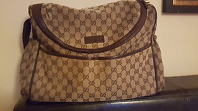 c0b704a2a6ba GUCCI DIAPER BAG with changing pad -  250.00