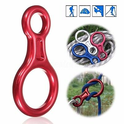 35KN Figure 8 Descender Rappel Rock Climbing Rope Rescue Gear Rappelling Belay