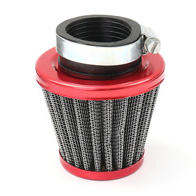 38mm Universal Red Air Filter Induction Kit Motorcycles Scooter ATV Bike Quad