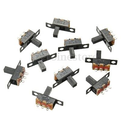 New 10x Black SPDT ON-Off Miniature Slide Switch Electronic Component DIY Power