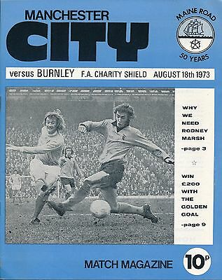 FA CHARITY SHIELD 1973: Manchester City v Burnley
