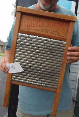 Antique Western Washboard Sales Company No.23-A Silver Beam Metal Chicago #16