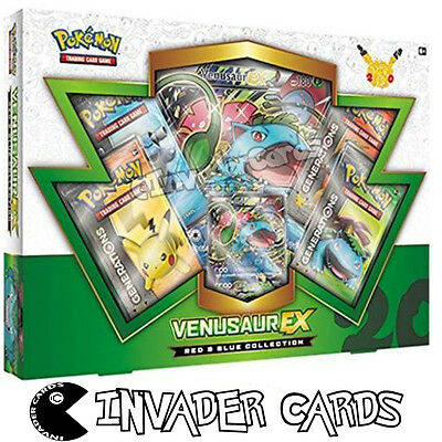 Pokemon Venasaur EX Blue Red Collection Special Edition Pack Booster Box Set New