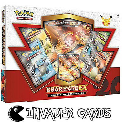 Pokemon Charizard EX Blue Red Collection Special Edition Pack Booster Box New