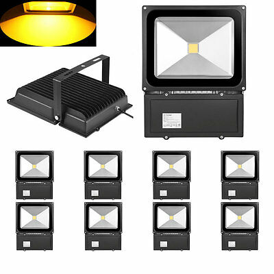 10x 100w warmwei led fluter aussen flutlicht strahler scheinwerfer lampe ip65 eur 205 99. Black Bedroom Furniture Sets. Home Design Ideas