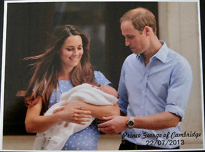 Prince William & Catherine & Prince George Leaving the Hospital Post Card