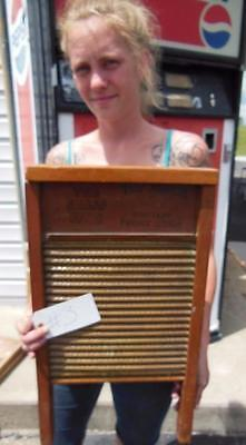 Antique National Washboard Company No.801 Brass King Chicago Saginaw Memphis #3