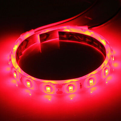 2X 25CM 15 SMD LED Waterproof Car Flexible Strip Decoration Red Light Lamp 12V
