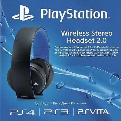 Cuffie Wireless Stereo Headset 2.0 Ufficiale Sony Playstation PS4 PS3 PS Vita